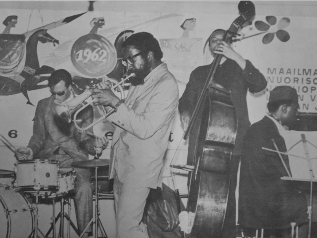 Free jazz performances of Bill Dixon and Archie Shepp's orchestra during the World Festival of Youth and Students, Helsinki, 1962. Archival materials from People's Archive in Helsinki.