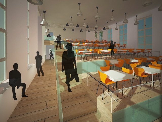 © Егор Богомолов, дизайн новой столовой для школы №53