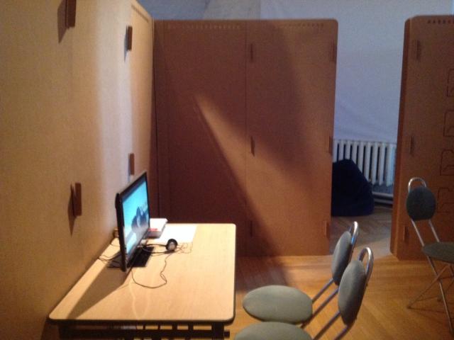 """""""Мобильный архив"""", общий вид экспозиции в фонде Pro Arte"""