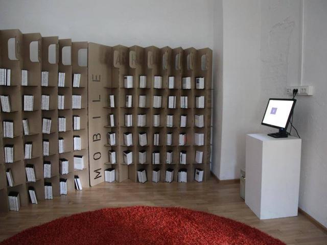 """Mobile Archive"" in Yekateriburg. Installation view in Ural NCCA"