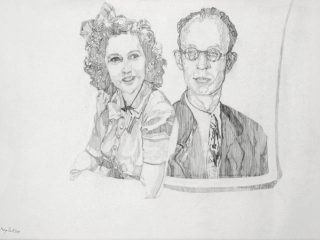 «Правило черного и белого», 2011, карандашный рисунок, 42Х59,4 см. Предоставлено художницей