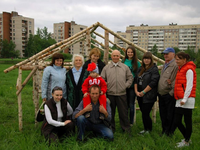 "Gareth Kennedy, The Last Wooden House of Kupchino"", wooden structure, community procession, video"