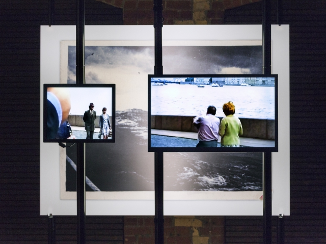 Felix Kalmenson, Neither Country Nor Graveyard, two-channel video, installation view, 2017