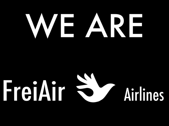 Aleksandra Wilczynska, 'We are FreiAir Airlines', poster, 2018