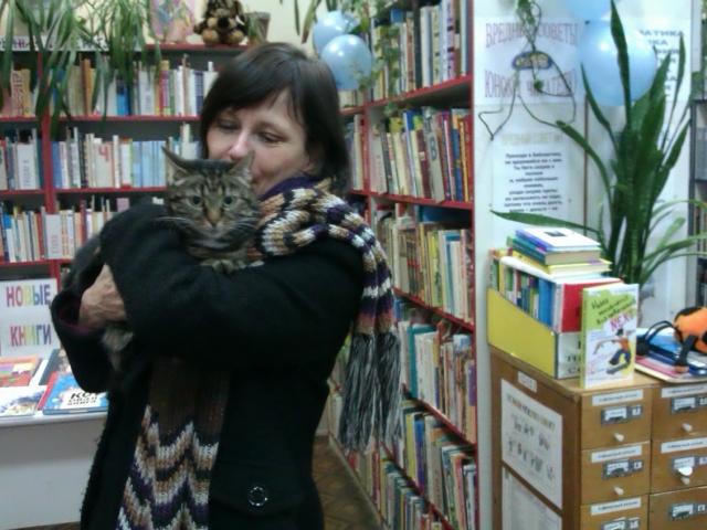 Анника Эрикссон в библиотеке Фрунзенского района