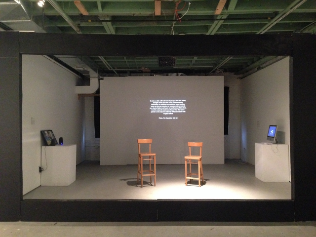 'Propaganda News Machines: Constructing Multiple Realities in The Media' curated by TOK, exhibition view, Flux Factory, 2016