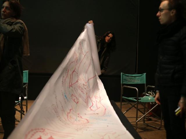 """Авенир Институт, """"Государство (?) после государства"""", художественное-теоретическая лаборатория в Безнациональном павильоне.  56-я Венецианская биеннале, 2015"""