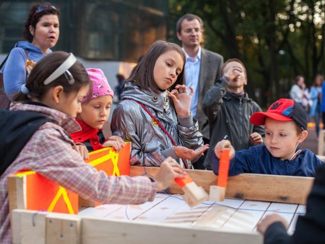 Opening of 'Critical mass 2015', Lopukhinskiy garden, September 11, 2015