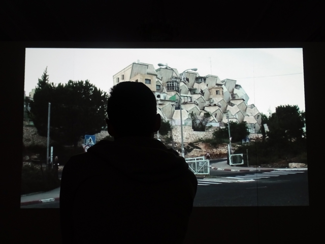 Nira Pereg, Shabbat 2008, 2008, video.   /De/Constructing Borders, installation view. Photo: Vladlena Yelagina-Skachenko