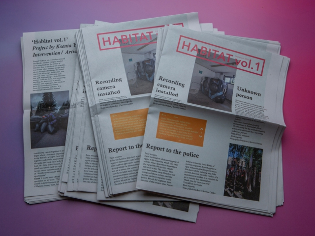Newspaper Habitat Vol.1 created by Ksenia Yurkova as a part of the intervention process