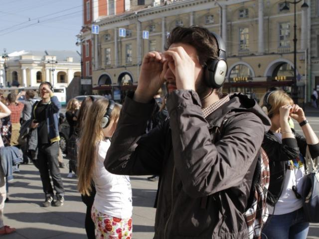 """Штефан Кеги, проект """"Remote Petersburg"""", перформанс в рамках биеннале Манифеста 10, 2014"""