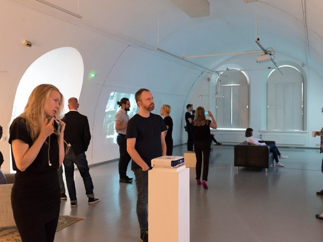 Opening of 'States of Control', general view, HIAP Agusta Gallery, Helsinki, 2017