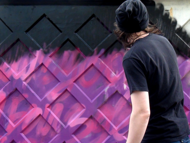 Stas Bags, 'The Wall: Here I Was', graffiti