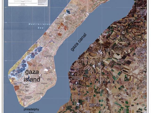 "Тамир Цадок, ""Канал Газа"",  2010, видео, 9'01''.  Кадр из видео"